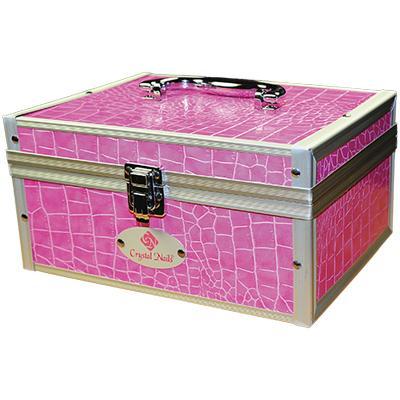 Kicsi fémtáska Crystal Nails logóval - Pink 63e8ba1fd7